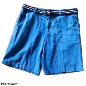 CLUB ROOM Blue Preppy Chino Shorts Belted size 36